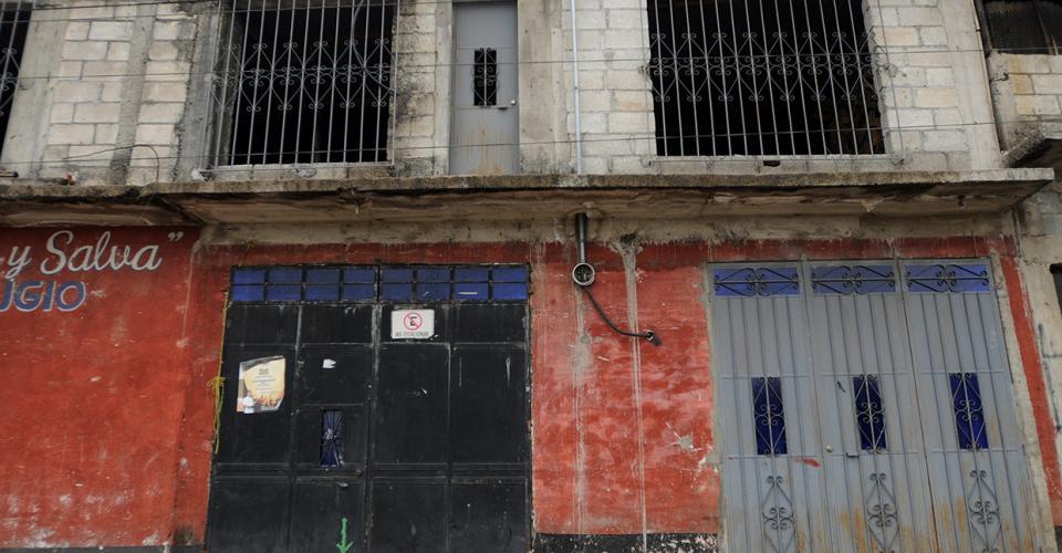 La que antes fue la galera de madera y láminas es ahora una iglesia evangélica, ahí ensayaban los integrantes de Iqui Balam.