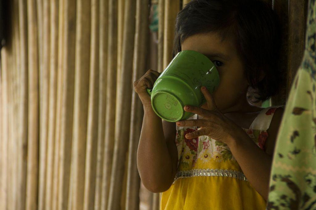 Una de las niñas de Camotán que ganarón un juicio al Estado.