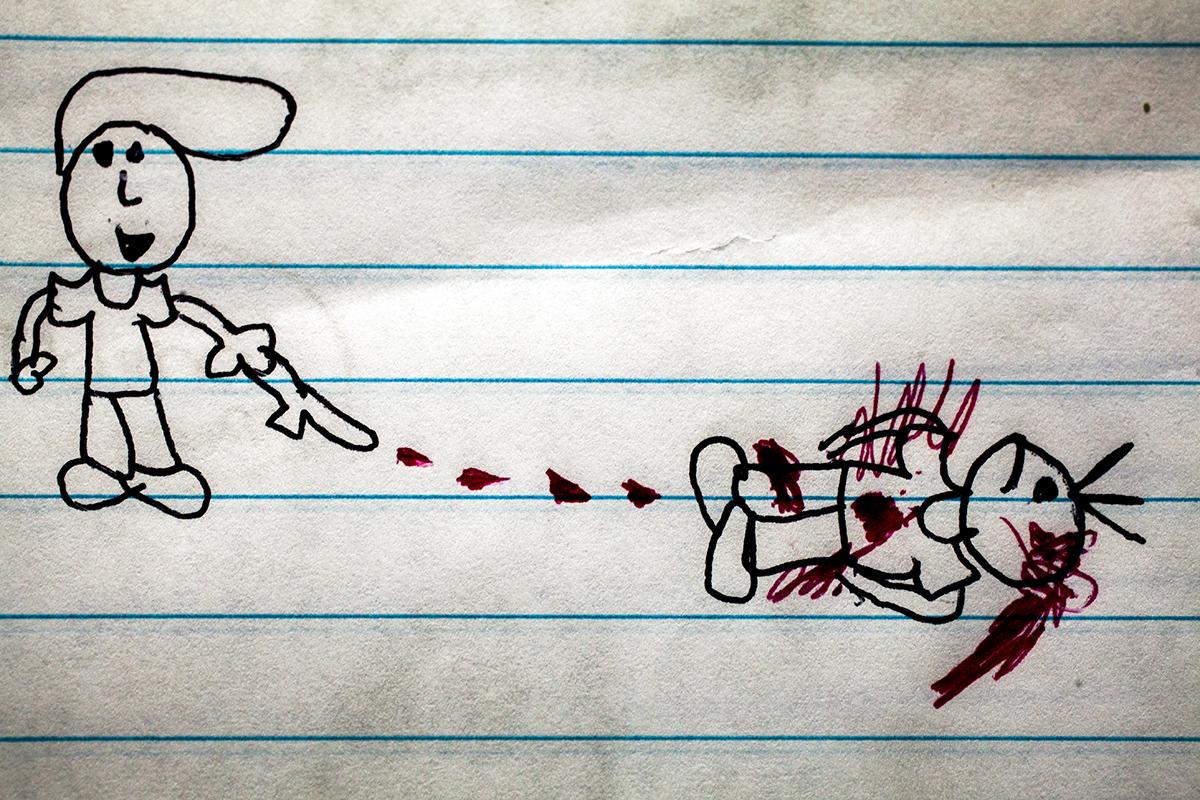Dibujo de un niño de quinto primaria