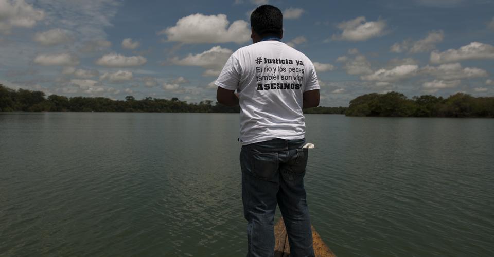 Pobladores de Sayaxché exigen justicia. Un total de 23 especies de peces fueron afectadas, de las cuales cinco están en peligro de extinction. Otros animales que se alimentan de peces también sufren las consecuencias.