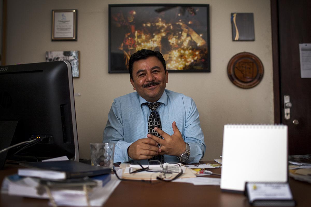 Pérez, en su despacho.