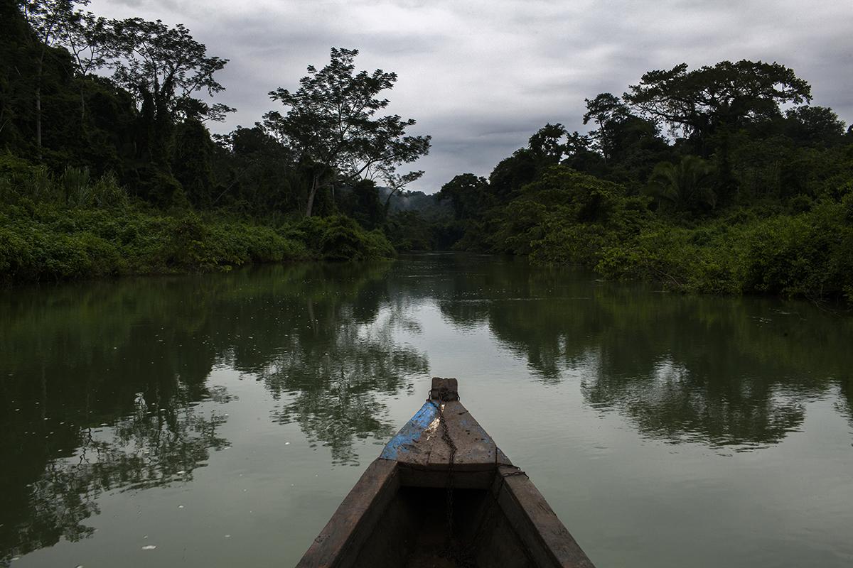 Zona del río en donde se realizaría la obra para encauzar el río