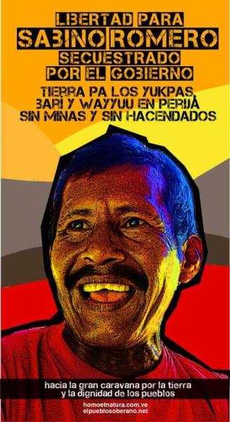El asesinado cacique Sabino Romero fue un líder destacado en la lucha por la tierra del pueblo Yukpa  Crédito: Homo et Natura