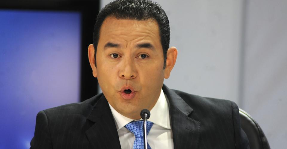 Jimmy Morales, candidato del Frente de Convergencia Nacional (FNC-Nación).