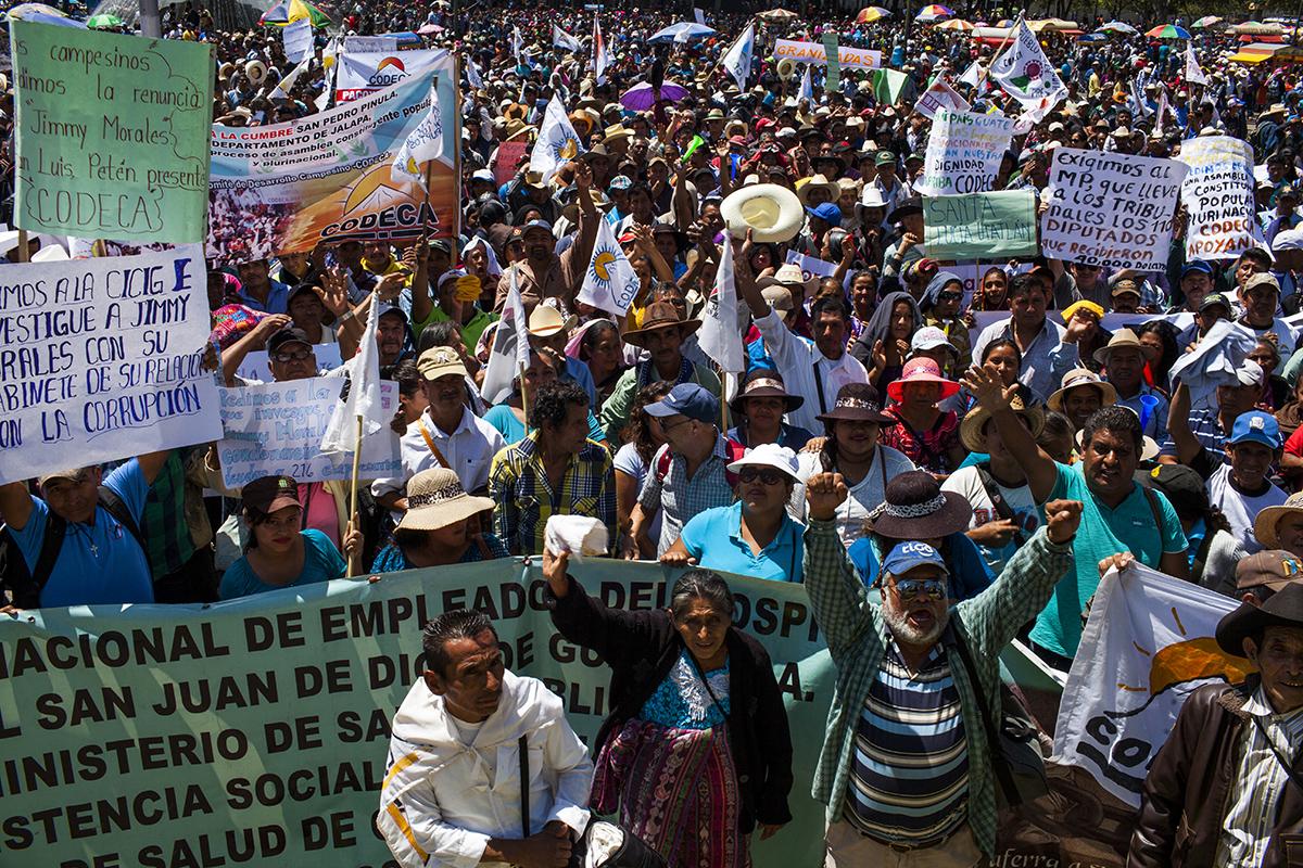 Manifestación de Codeca el 7 de marzo de 2017.