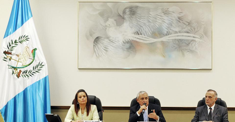 Reunión de gabinete con la presencia de Iván Velásquez, representante de la Comisión Internacional Contra la Impunidad en Guatemala (Cicig).