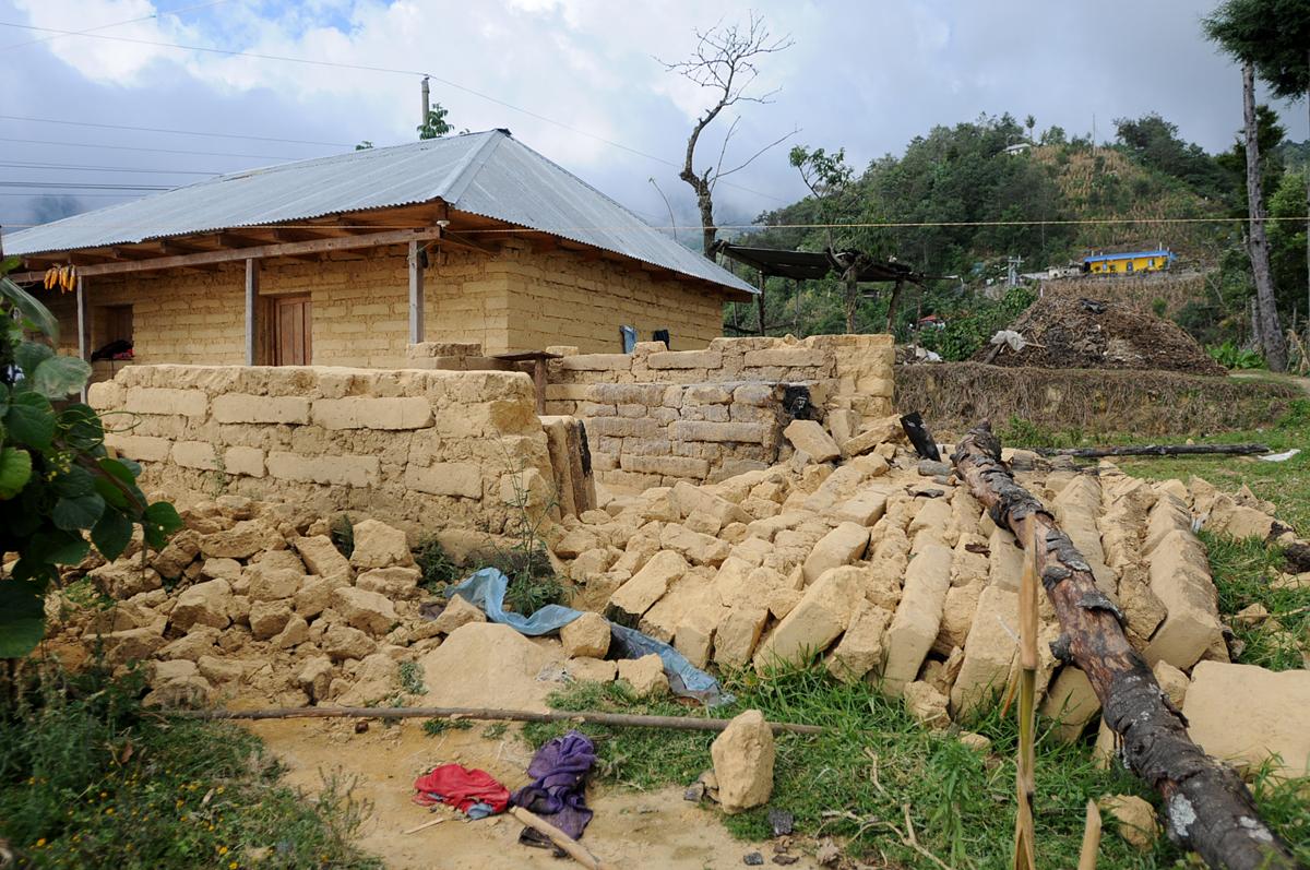 La cocina fue destruída por el terremoto.