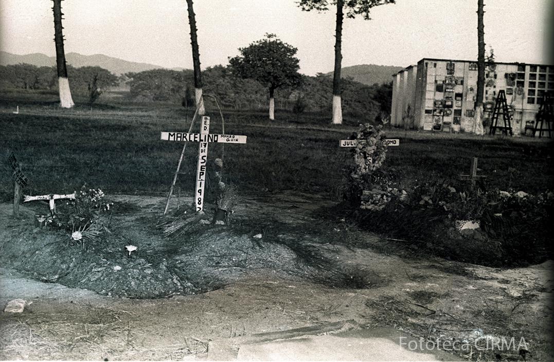 La tumba de Marcelino Marroquín, fusilado en septiembre de 1982.