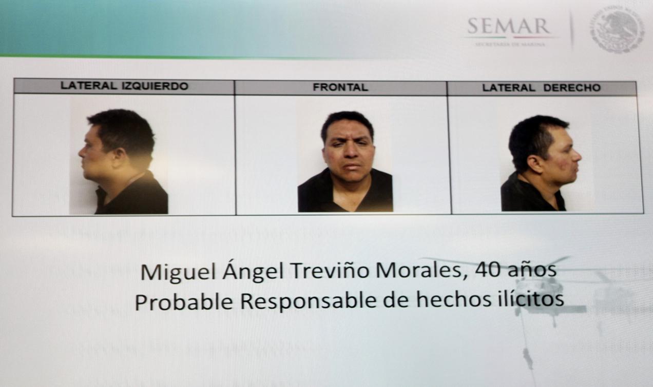 """Miguel Treviño Morales (alias """"Z-40"""") fue capturado el 16 de julio en México."""
